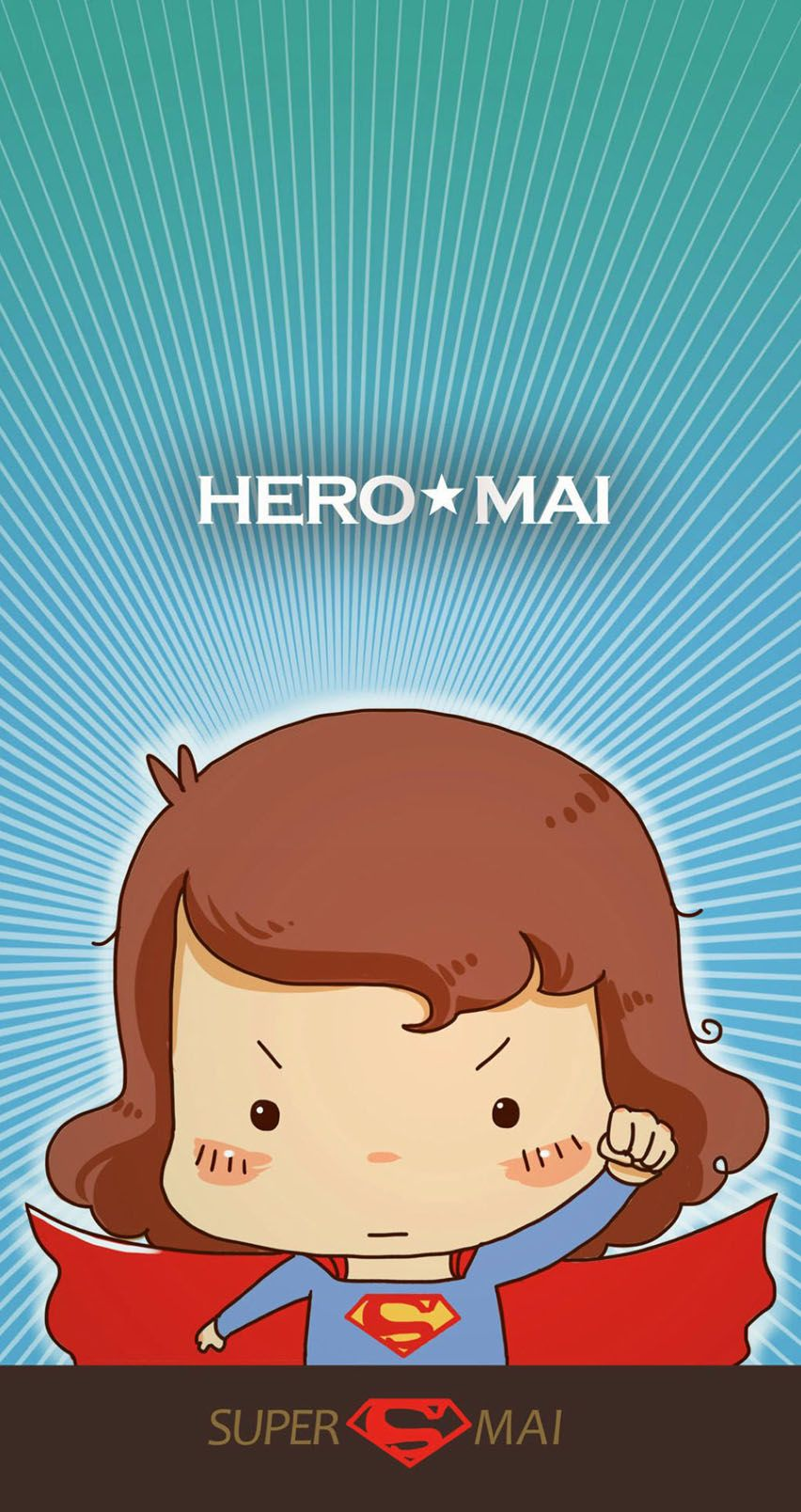 Love cartoon Funny Wallpaper : Supermai. Tap image for more iPhone cute & funny cartoon wallpaper! - @mobile9 Wallpapers for ...