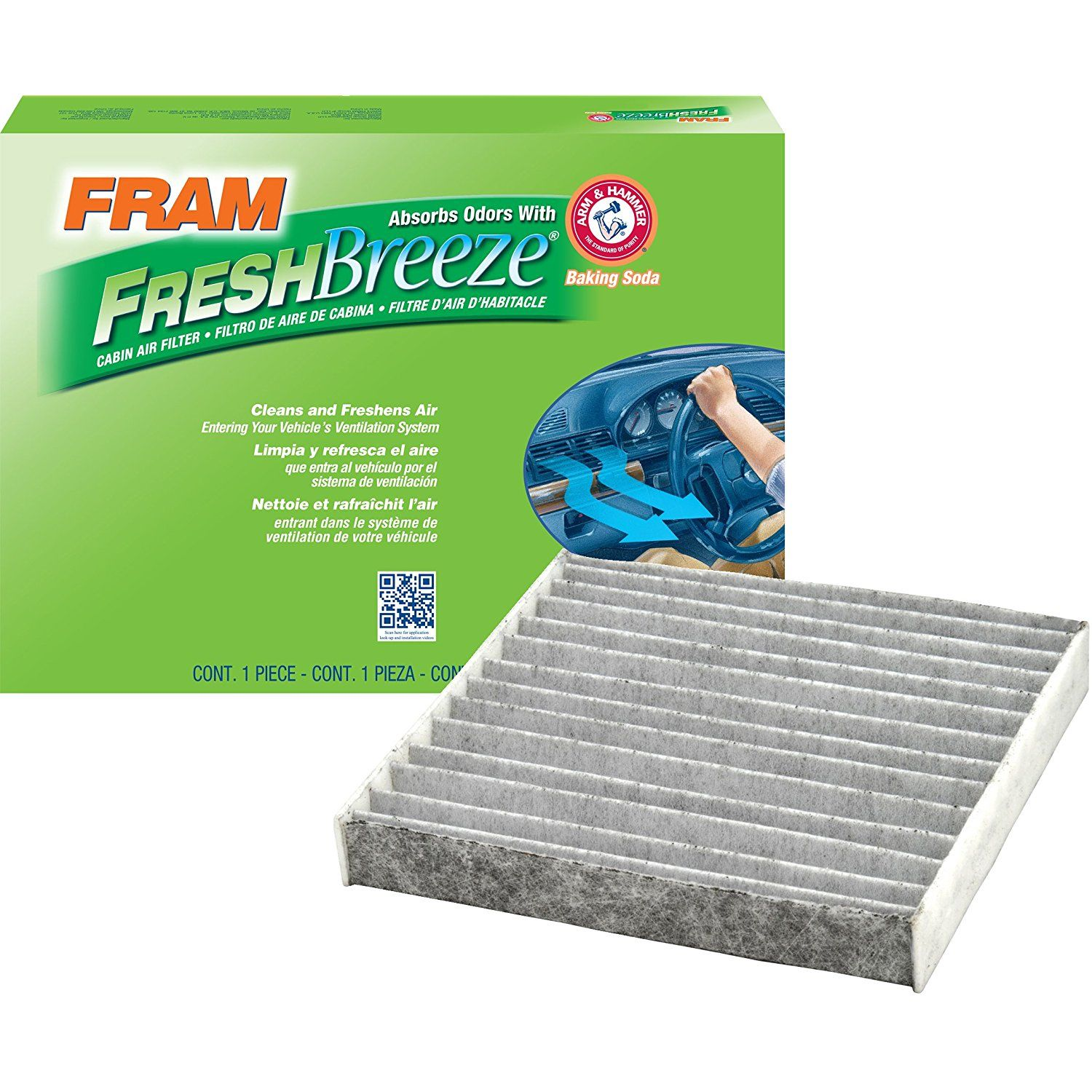 FRAM CF10285 Fresh Breeze Cabin Air Filter with Arm