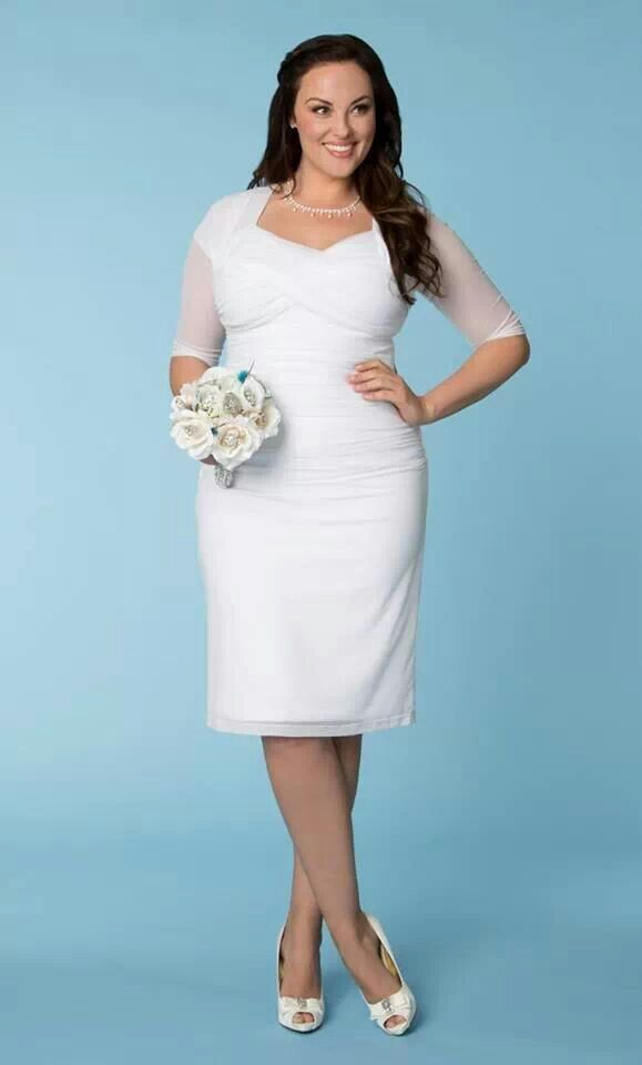 Weeding dress simple for plus size