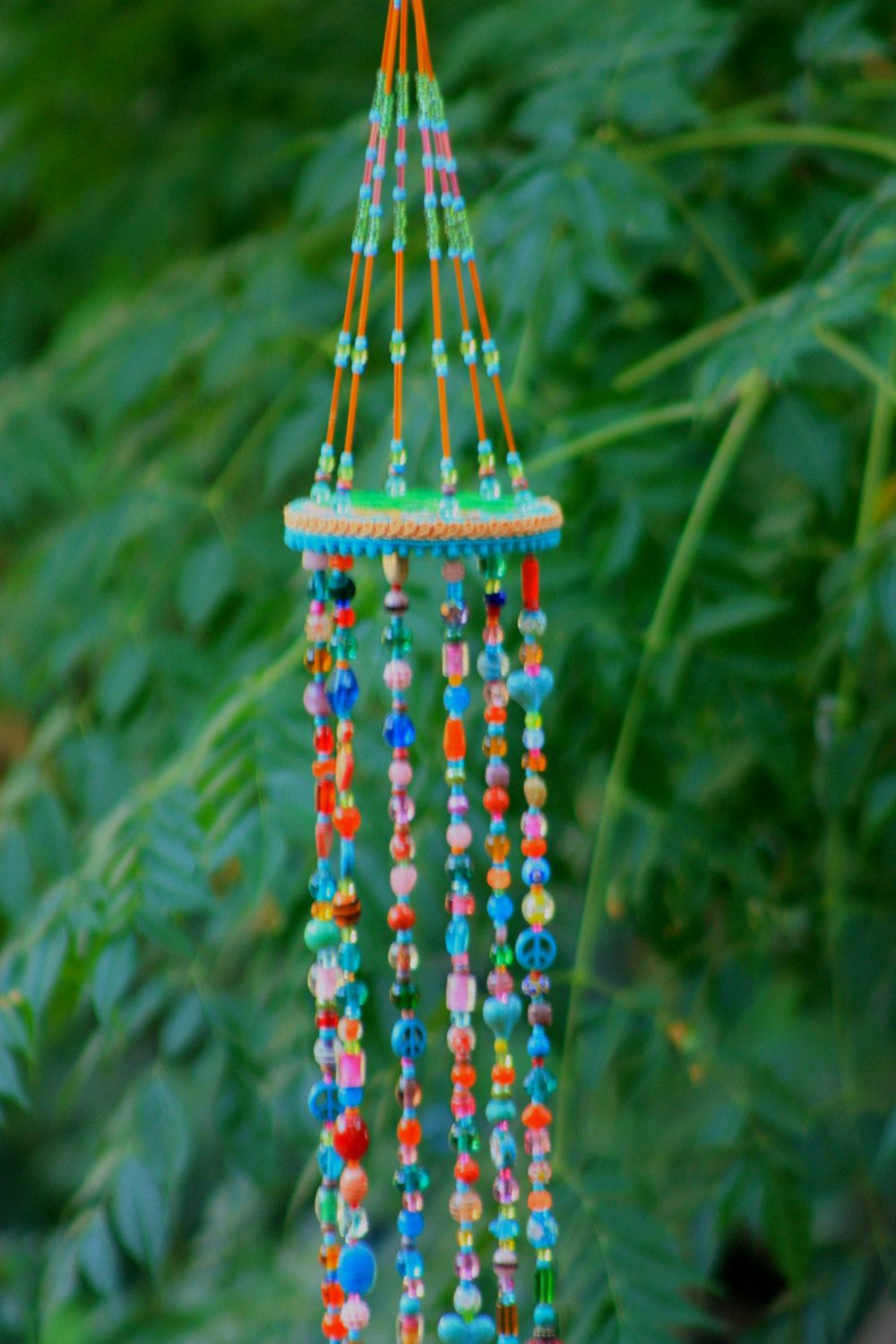 Hanging Glass Bead Wind Chimes