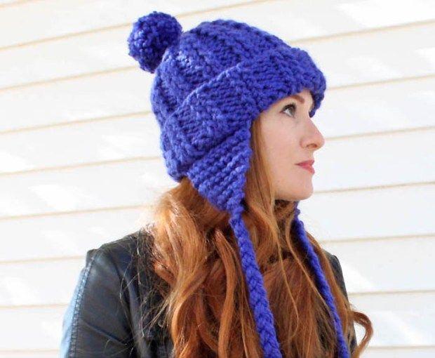 Ear Flap Hat  knitting pattern  - Gina Michele 79ab20b56b08