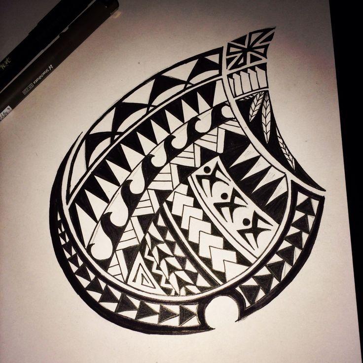 Maori Chest Tattoo Stencil
