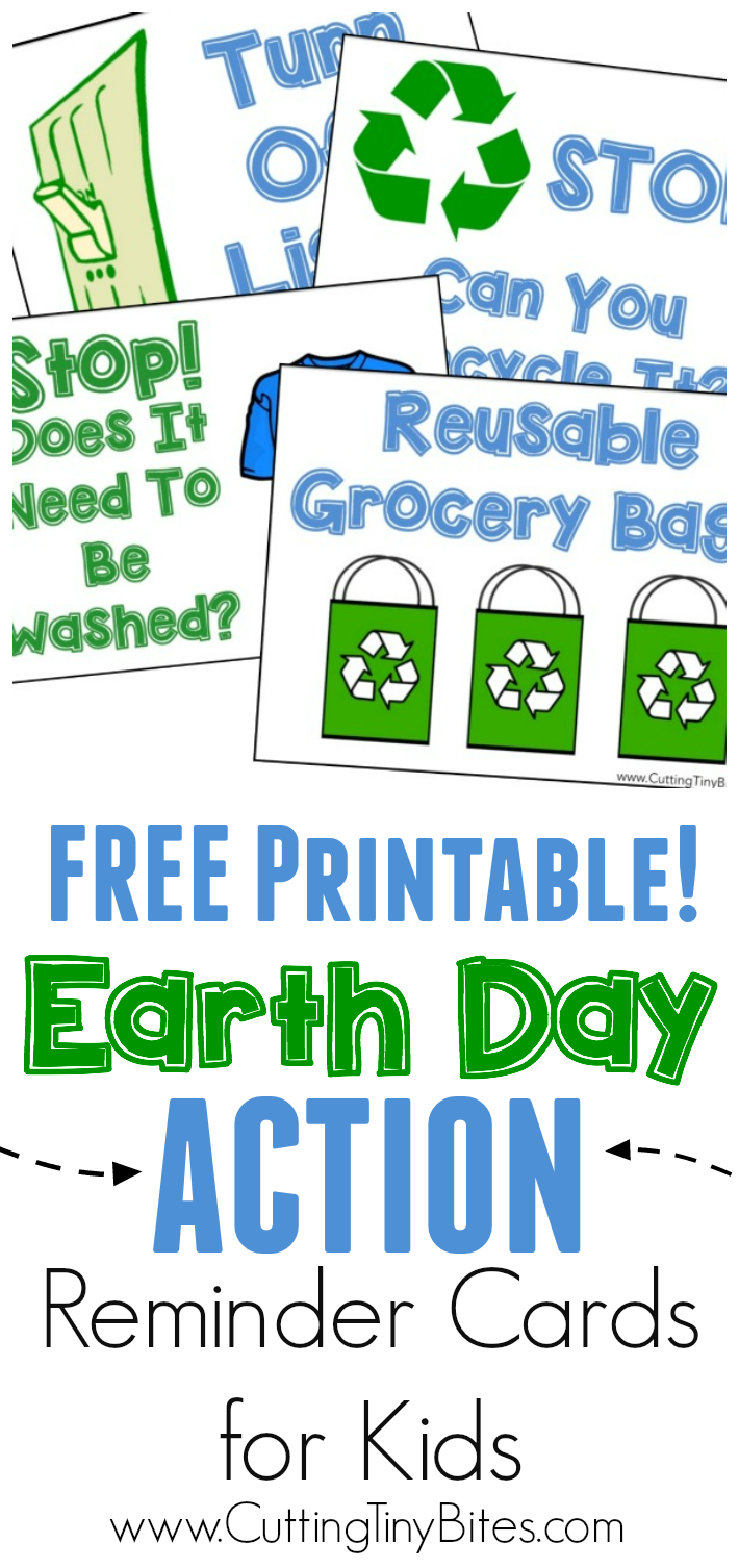 Earth Day Action Reminder Cards | Earth, Planets and Action