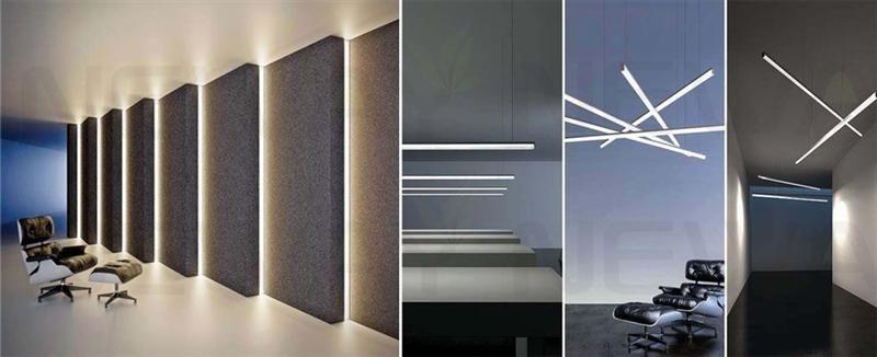 20w Suspended Linear Led Light Strip Luminous Effect