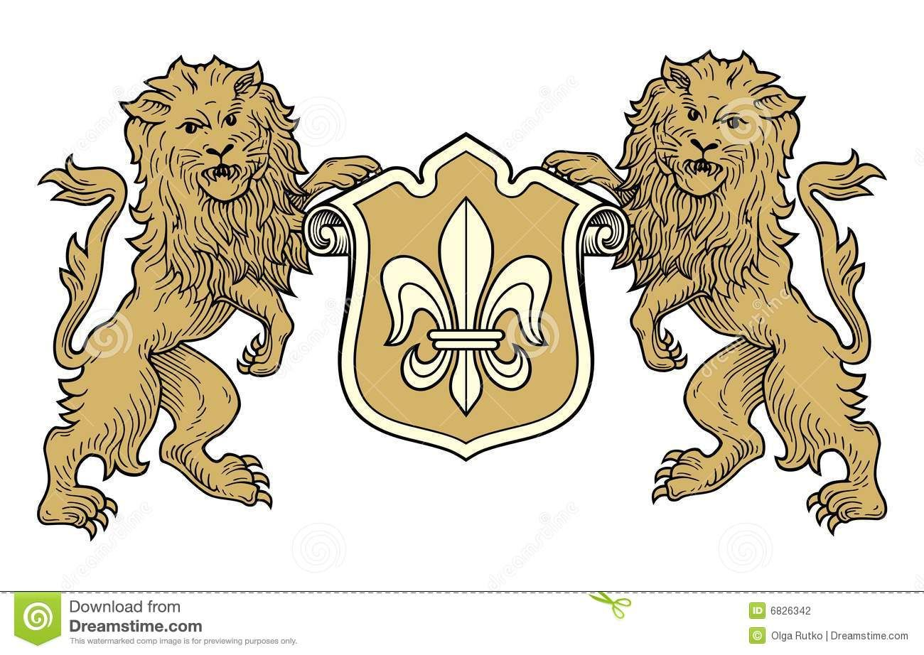 lions looking forward coat of arms coat of arms