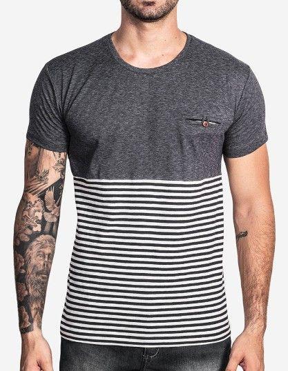 t-shirt-meia-listrada 1   ropa caballeros en 2018   Pinterest ... 43929db6e7
