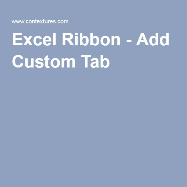 how to add ribbon in excel