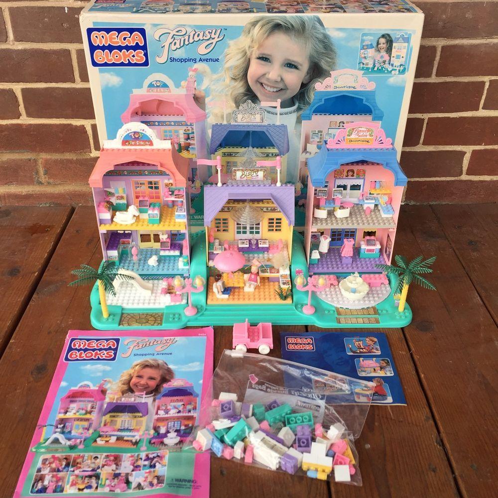 Vintage Mega Bloks 1995 Fantasy Shopping Avenue Girl 039 S Building Blocks 9404 Ebay Vintage Toys Mega Blocks Childhood