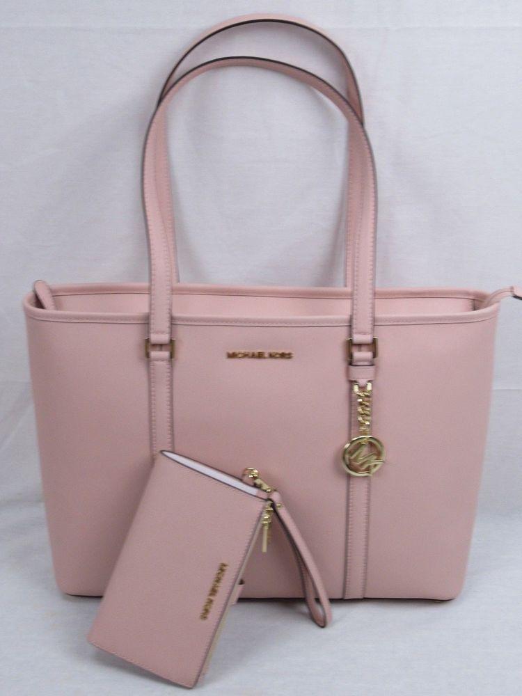 d3c9d808e111 Michael Kors Sady Carryall Shoulder LG Pastel Pink Tote Bag Or Double Zip  Wallet #michaelkorszipwallet