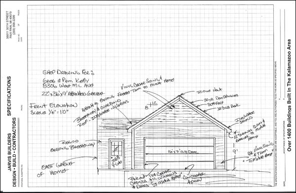 Specs 22 X 36 X 9 Attached Pole Building Garage 8 12 Pitch Attic Storage Trusses 12 Wide Room Pole Building Garage Pole Buildings Cedar Vinyl Siding