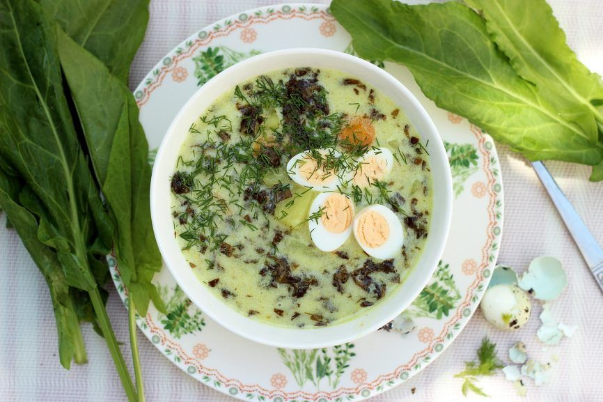 Zupa Szczawiowa Ze Swiezego Szczawiu Food Vegetarian Recipes Polish Recipes