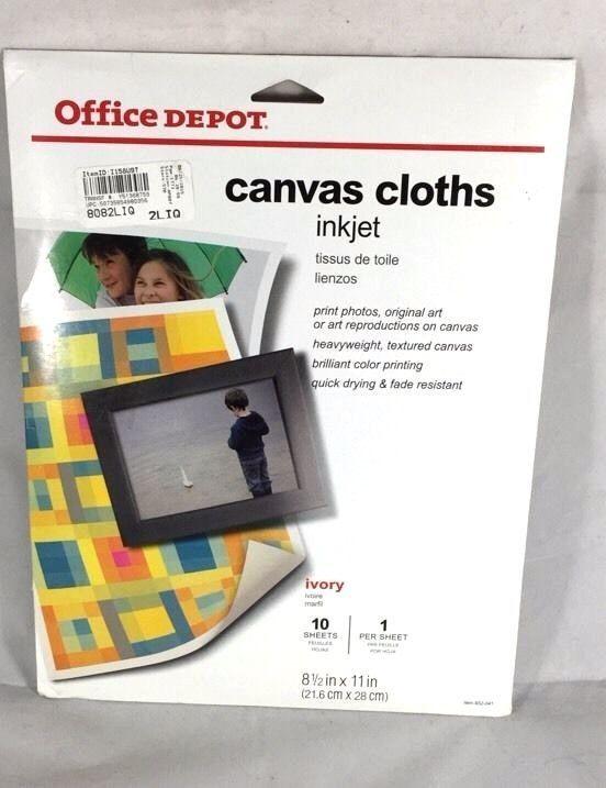 Office Depot Canvas Cloths Ivory 10 Sheets #OfficeDepot