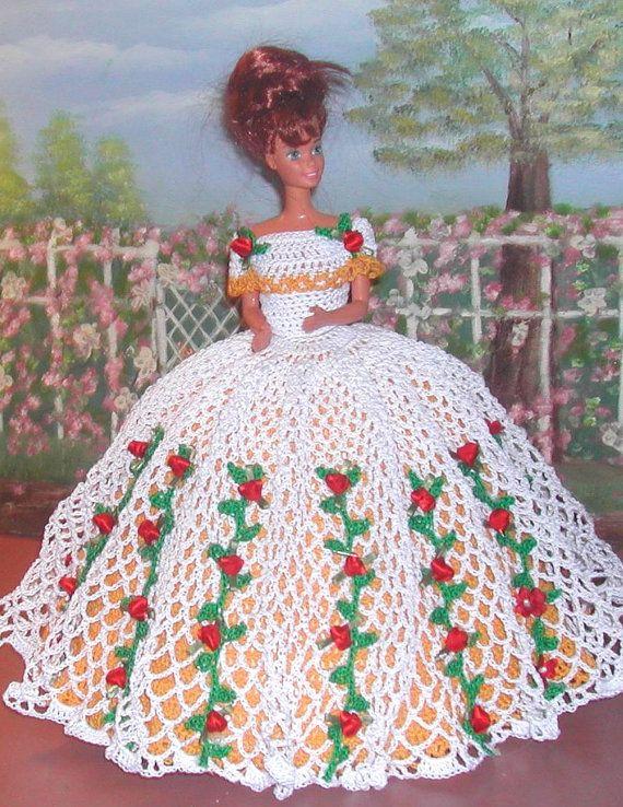 Crochet Fashion Doll Barbie Pattern- #564 CAROLINA | Barbie, Muñecas ...