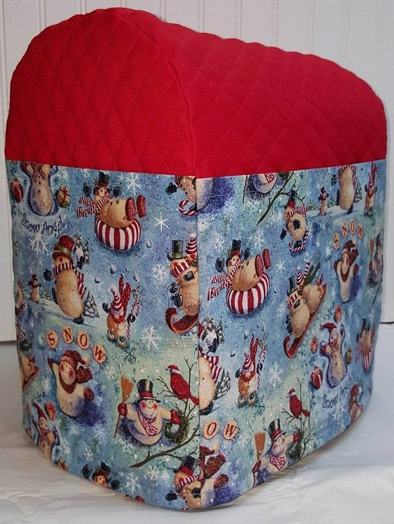 Check out this item in my Etsy shop https://www.etsy.com/listing/455460508/red-quilted-christmas-snowmen-cover-for