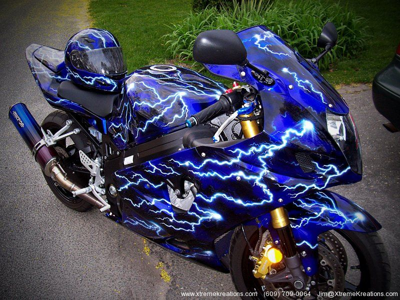 Custom Painted Sport Bikes Sportbike Custom Painting Gallery Of