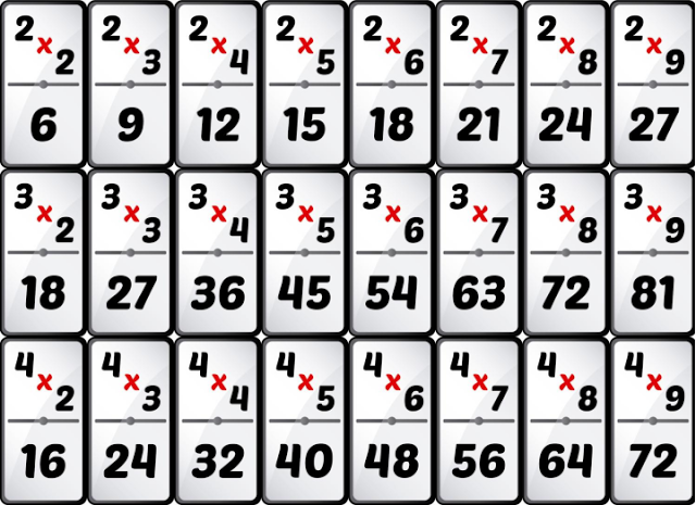 Dominó De Multiplicaciones Descargar Pdf Domino De Multiplicaciones Juegos Didacticos De Matematicas Multiplicacion