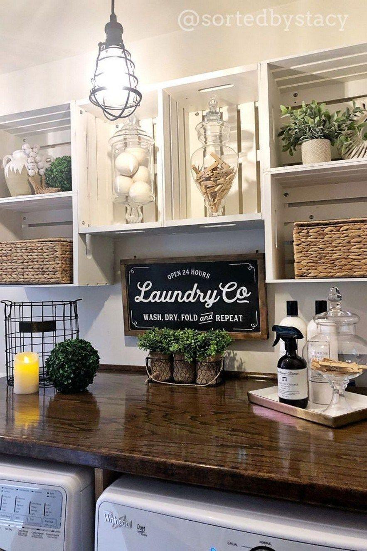 31 Beautiful Farmhouse Kitchen Decor Ideas Laundry Room Decor