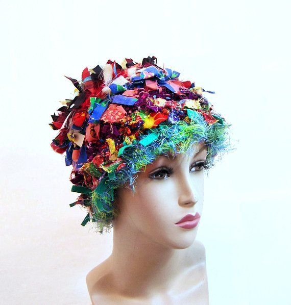 71abd564be54e Crazy boho hat crochet hats for women funky winter hat rag colorful beanie  statement hat cool crazy hat cloche bucket shabby chic bohemian