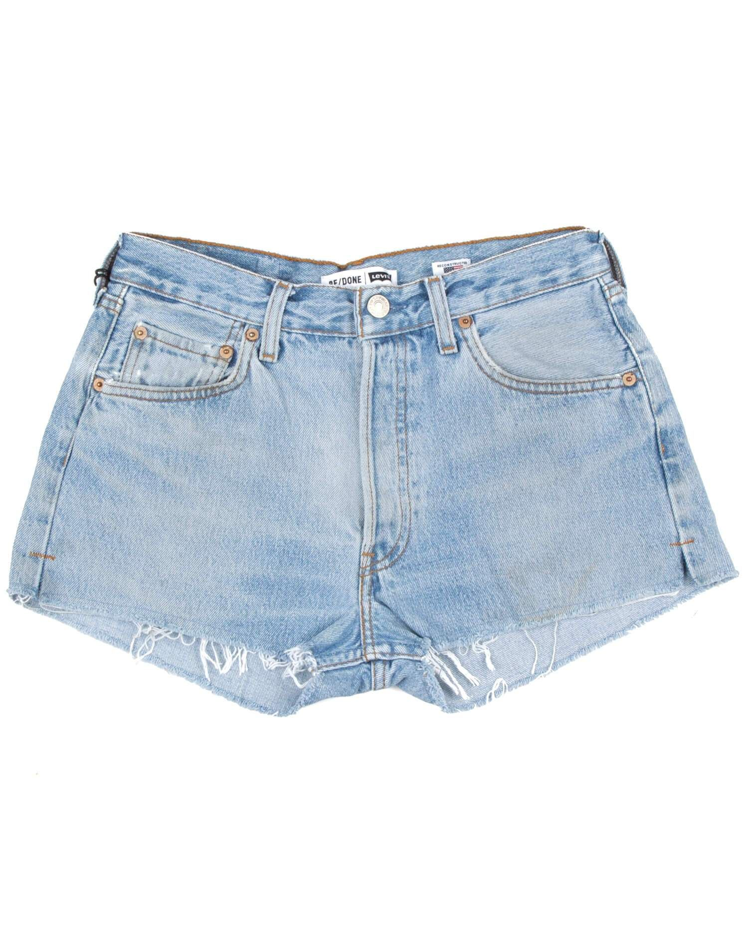 Vintage Levi's | The Shorts | Light Blue | Size 23 | No. 23TS1164315 | Denim #lightblueshorts
