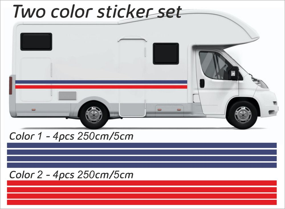 Details About 20m X 50mm Motorhome Vinyl Stripes Stickers Decals