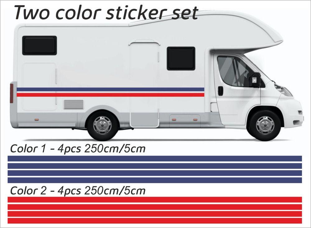 20m X 50mm Motorhome Vinyl Stripes Stickers Decals Camper Van Caravan 2 Color Ebay Motorhome Camper Recreational Vehicles