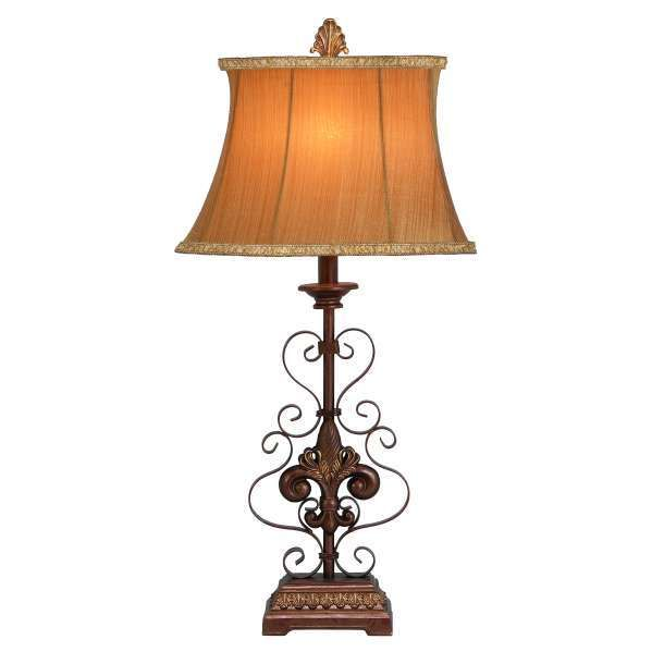 Beautiful Fleur Di Lis Table Lamp 30 758647420063 Ebay Table