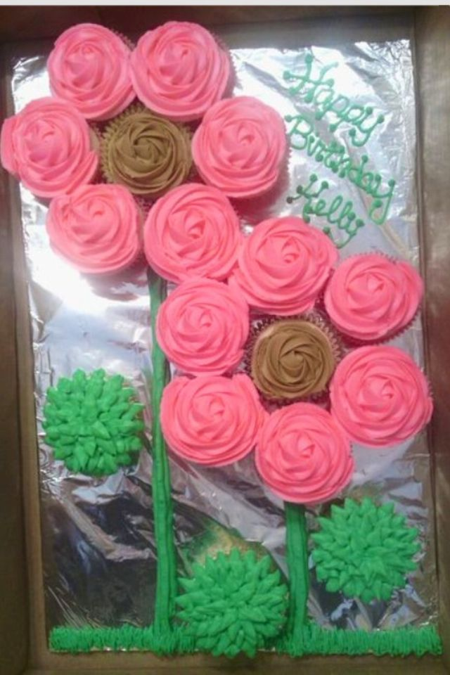 Flowers Made Out Of Cupcakes