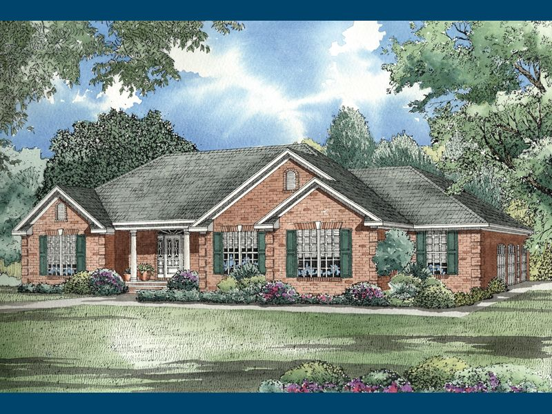 Fairfield Lake Ranch Home Traditional House Plans Ranch Style House Plans Ranch Style Homes