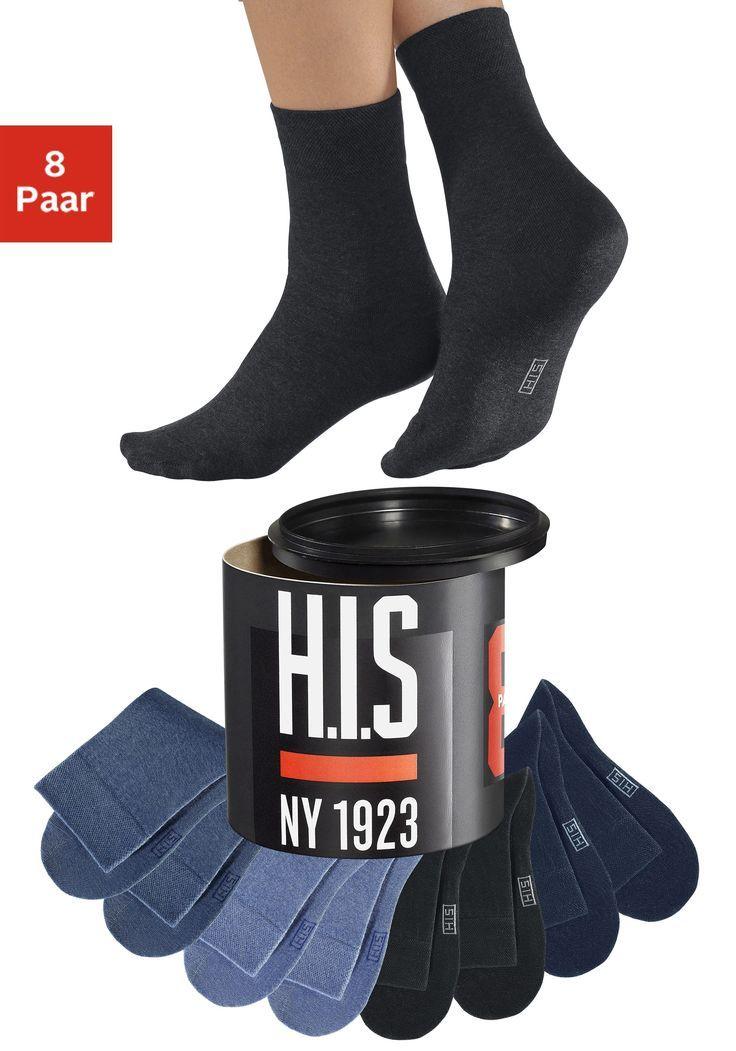 Neckermann Damen,Herren H.I.S Socken (Dose 8) in der