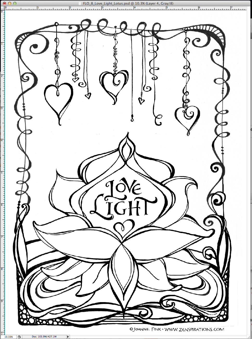 Dangle Designs Coloring Book