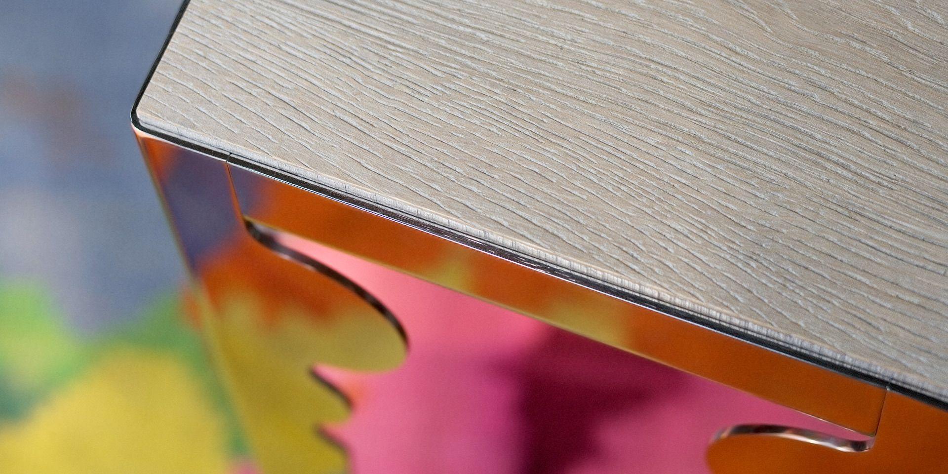 Tavolino in acciaio lucido di Lando | lartdevivre - arredamento online