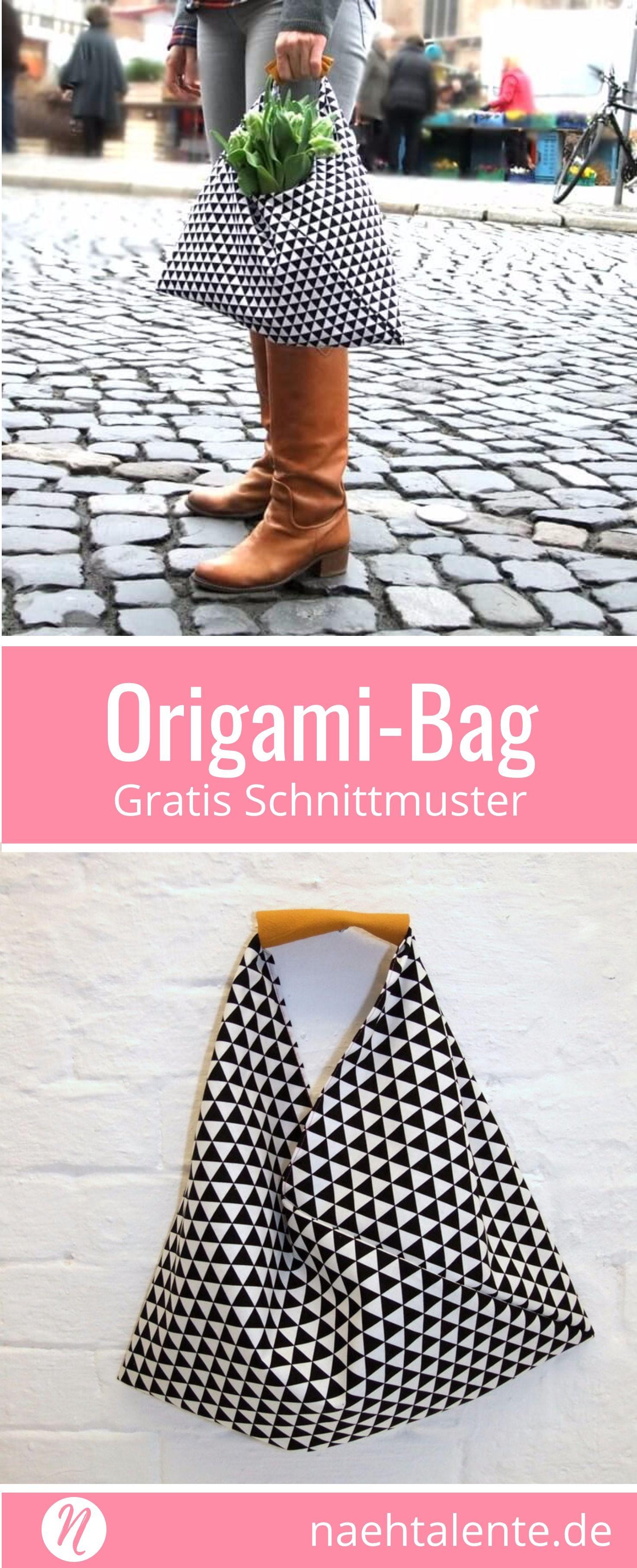 Origami-Bag - genäht in nur 30 Minuten | Pinterest | Origami-tasche ...
