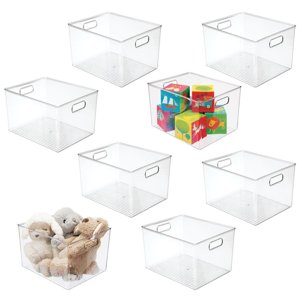 Tall Plastic Home Office Storage Desk Organizer Bin 12 X 10 X 8 In 2020 Office Storage Home Office Storage Toy Storage Bins