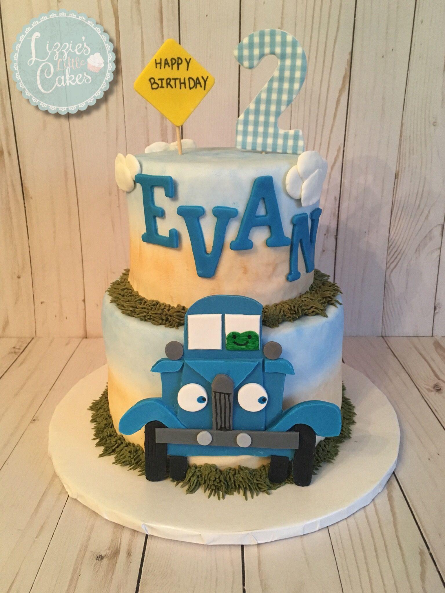 Little blue truck cake truck birthday cakes balloon