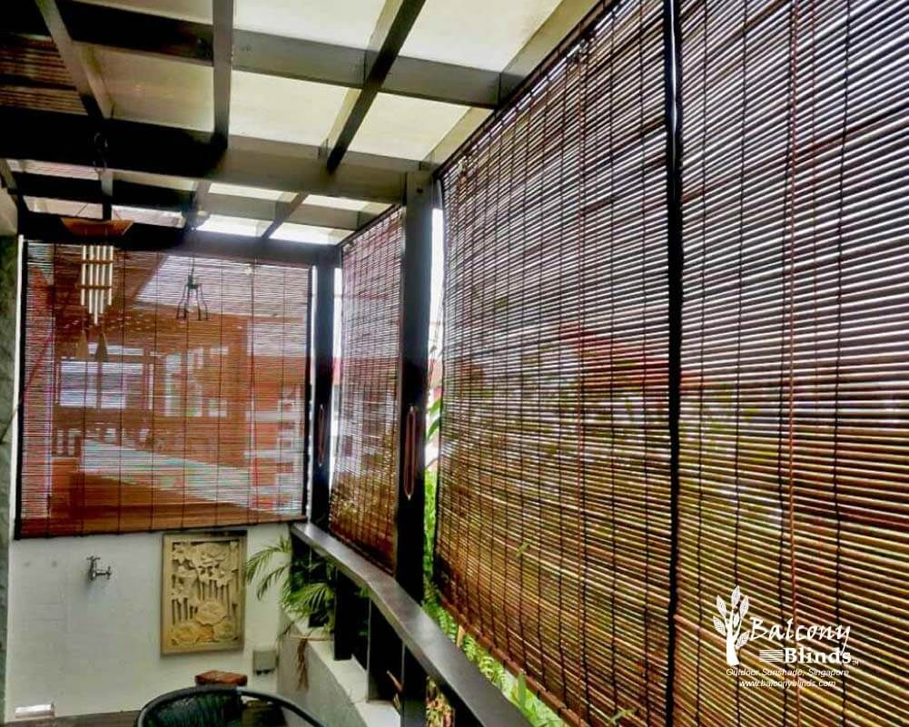 Outdoor Bamboo Blinds Singapore Balconyblinds Outdoor Blinds Outdoor Roller Blinds Blinds