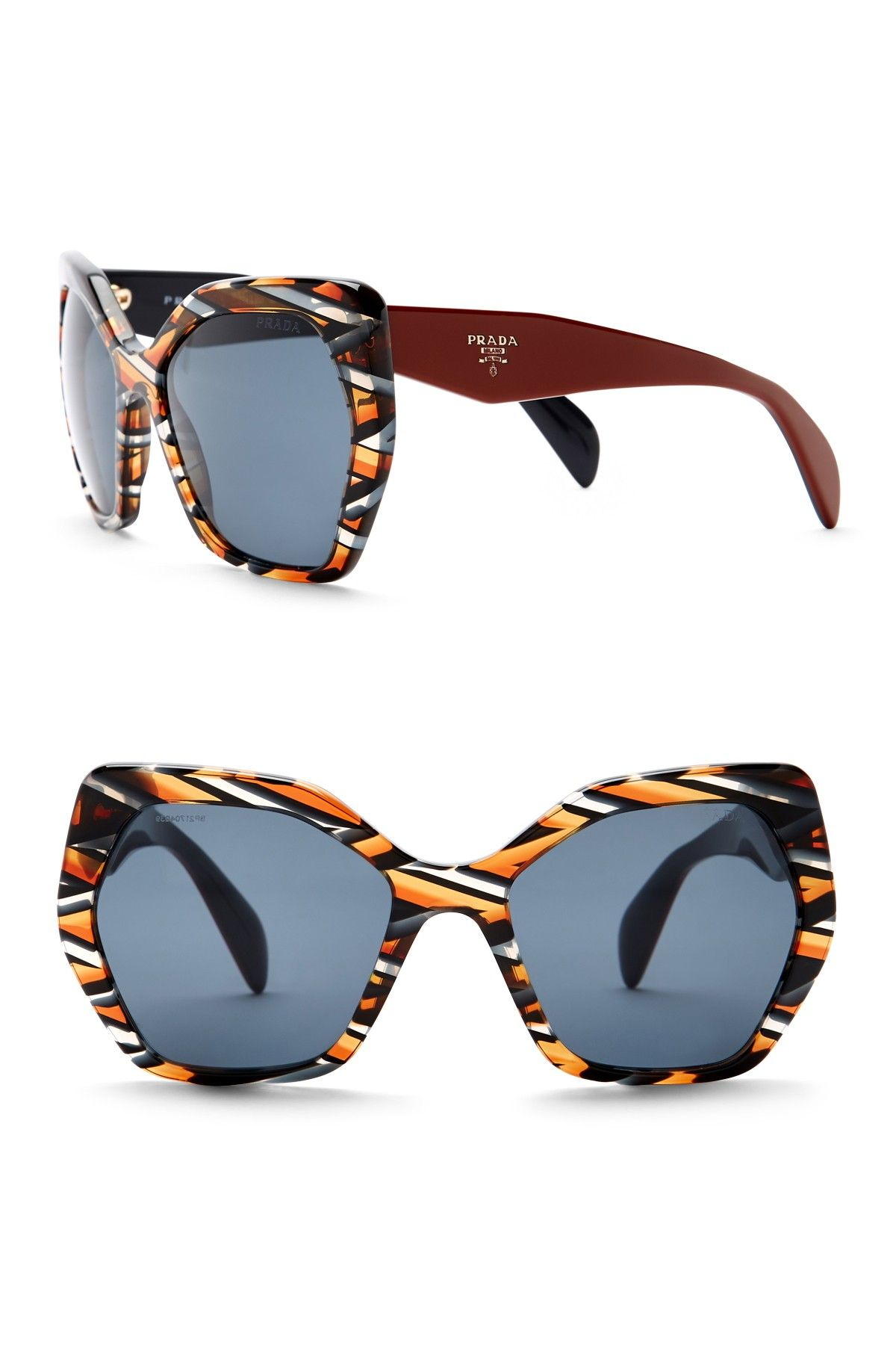 bc021519318 Prada - Women s Irregular Heritage Triangle 56mm Sunglasses is now 64% off.  Free Shipping on orders over  100.