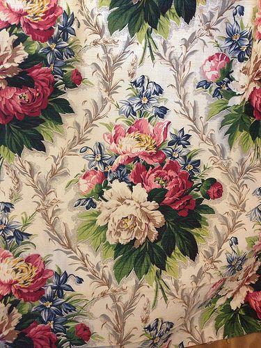 Vintage barkcloth curtains