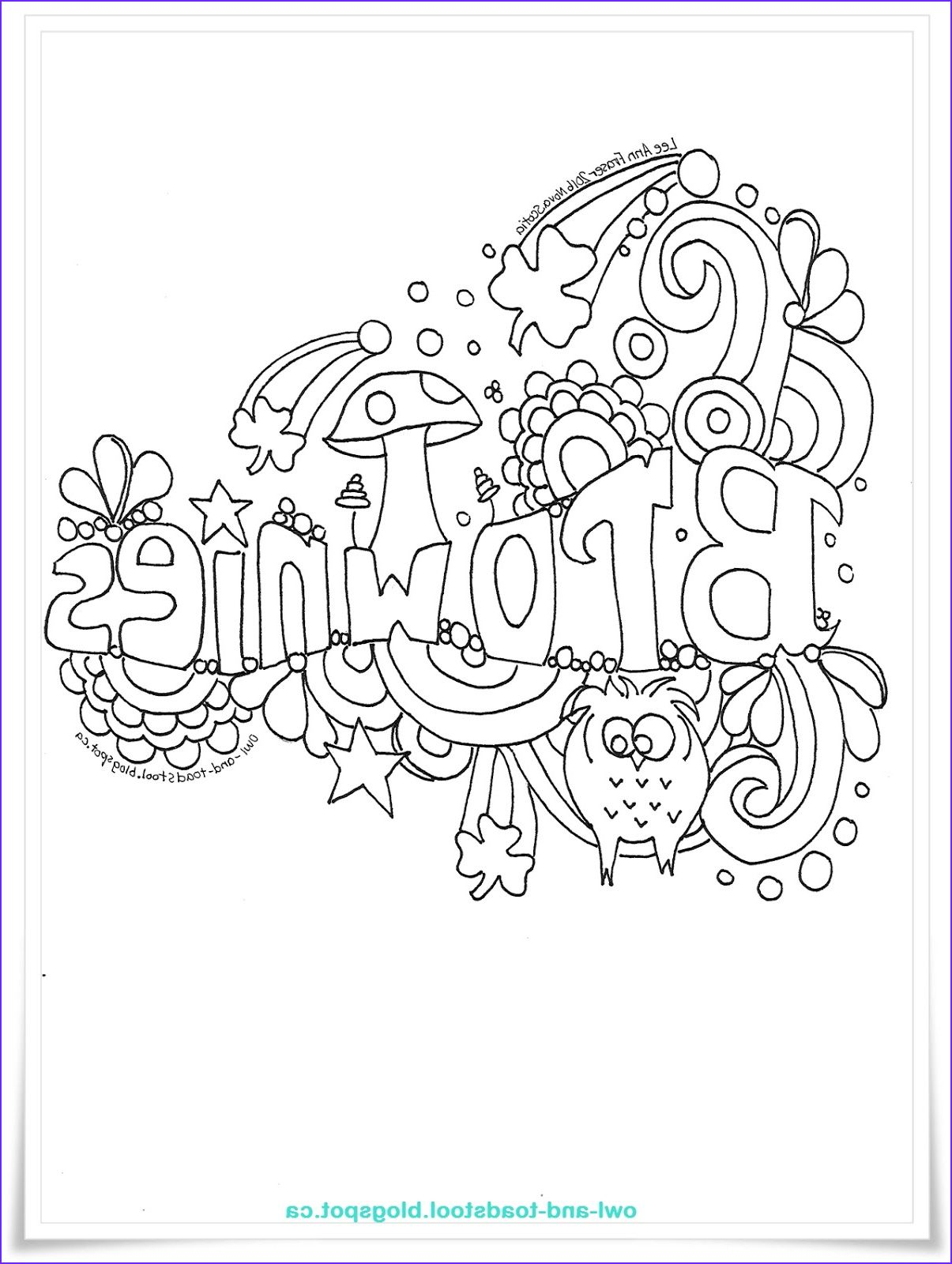 Girl Scout Brownie Elf Coloring Page