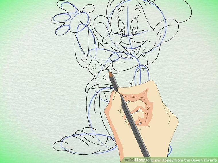 Image titled Draw Dopey from the Seven Dwarfs Step 6