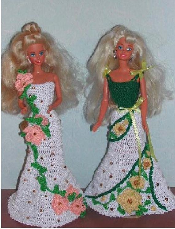 1) HÄKELMODE 377 PARIS Kleider #2 für 11 1/2 Fashion Dolls wie ...