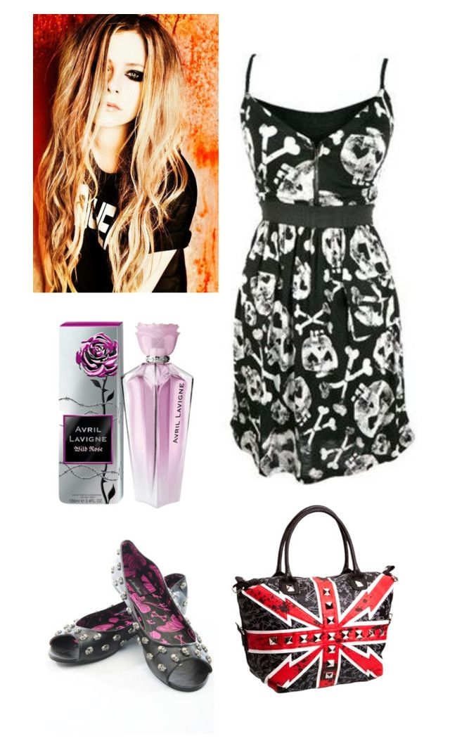 """Avril Lavigne inspired outfit"" by kellyjellybelly ❤ liked on Polyvore featuring Abbey Dawn and Wild Rose"