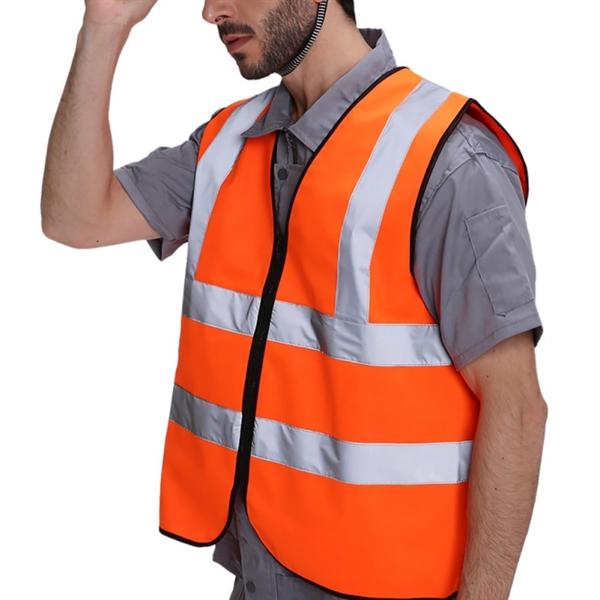 Reflective Strips Safety Vest Safety vest, Custom logos
