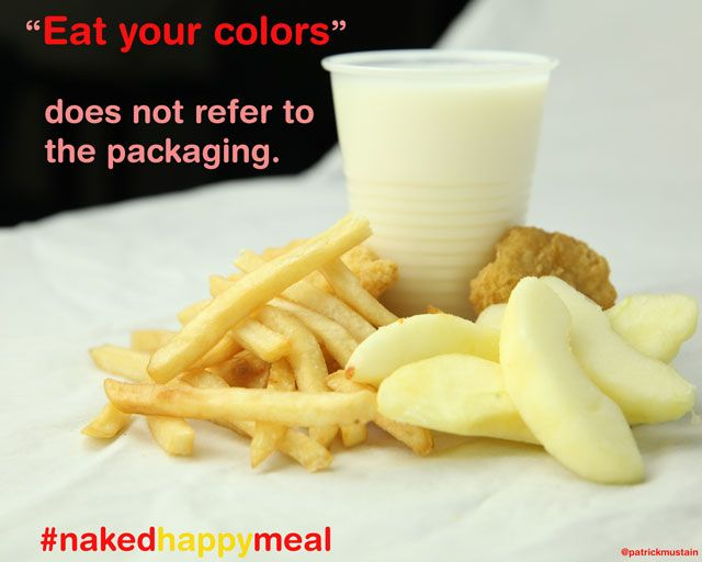 """""""Eat Your Colors"""" does not refer to the packaging."""