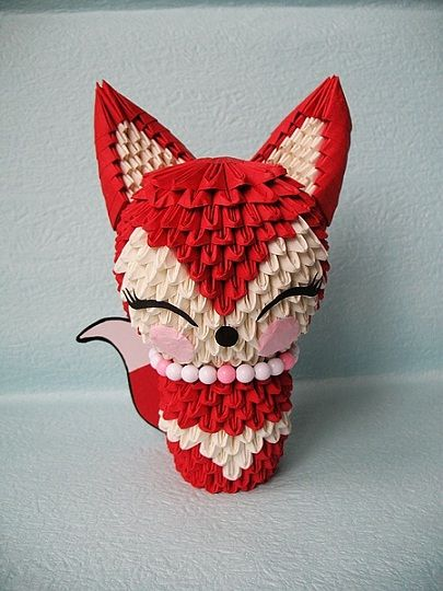 3d Origami Lady Foxis Would Take Dedicationdmble