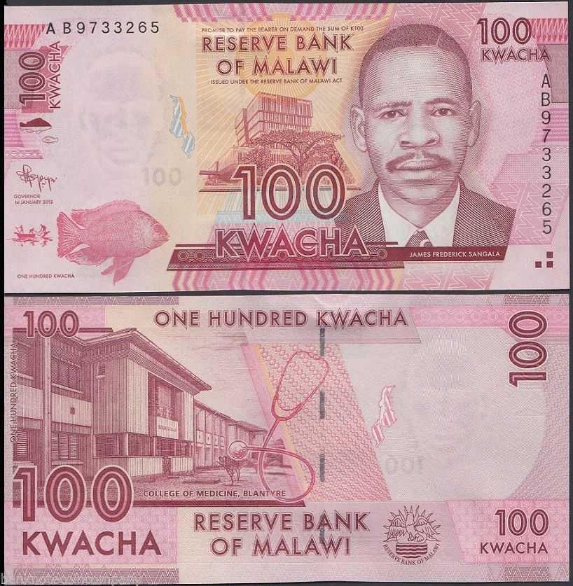MALAWI 100 KWACHA 2012 P NEW UNC