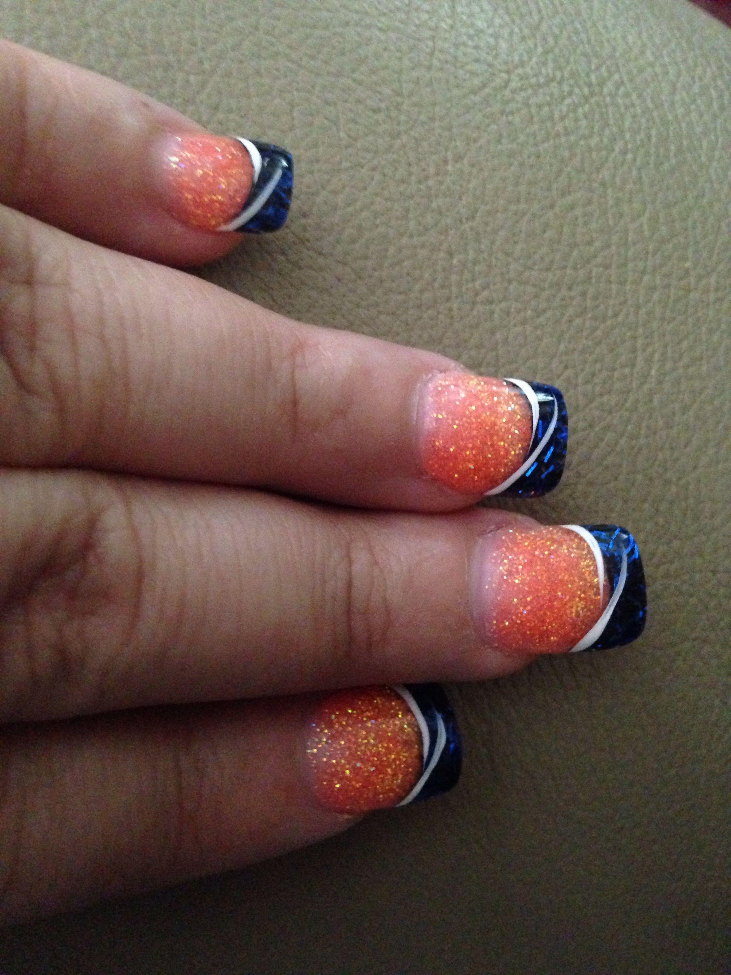 Denver Broncos nails. | Hair Skin and nails | Pinterest | Denver ...