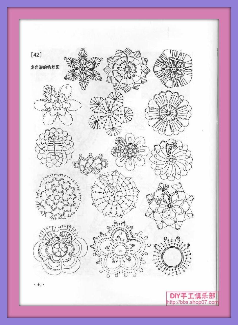 Una Locura De Ideas Patrones Flores Ganchillo En Tamao Rose Crochet Crochetflowers Pretty Flower Diagram Pequeo Para Accesorios