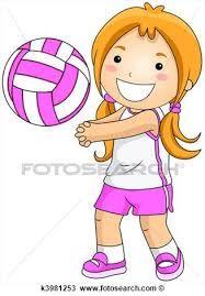 niños jugando voleibol para colorear