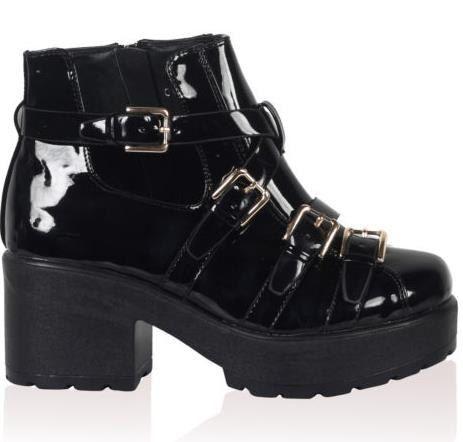90s goth club kid platform shoes by