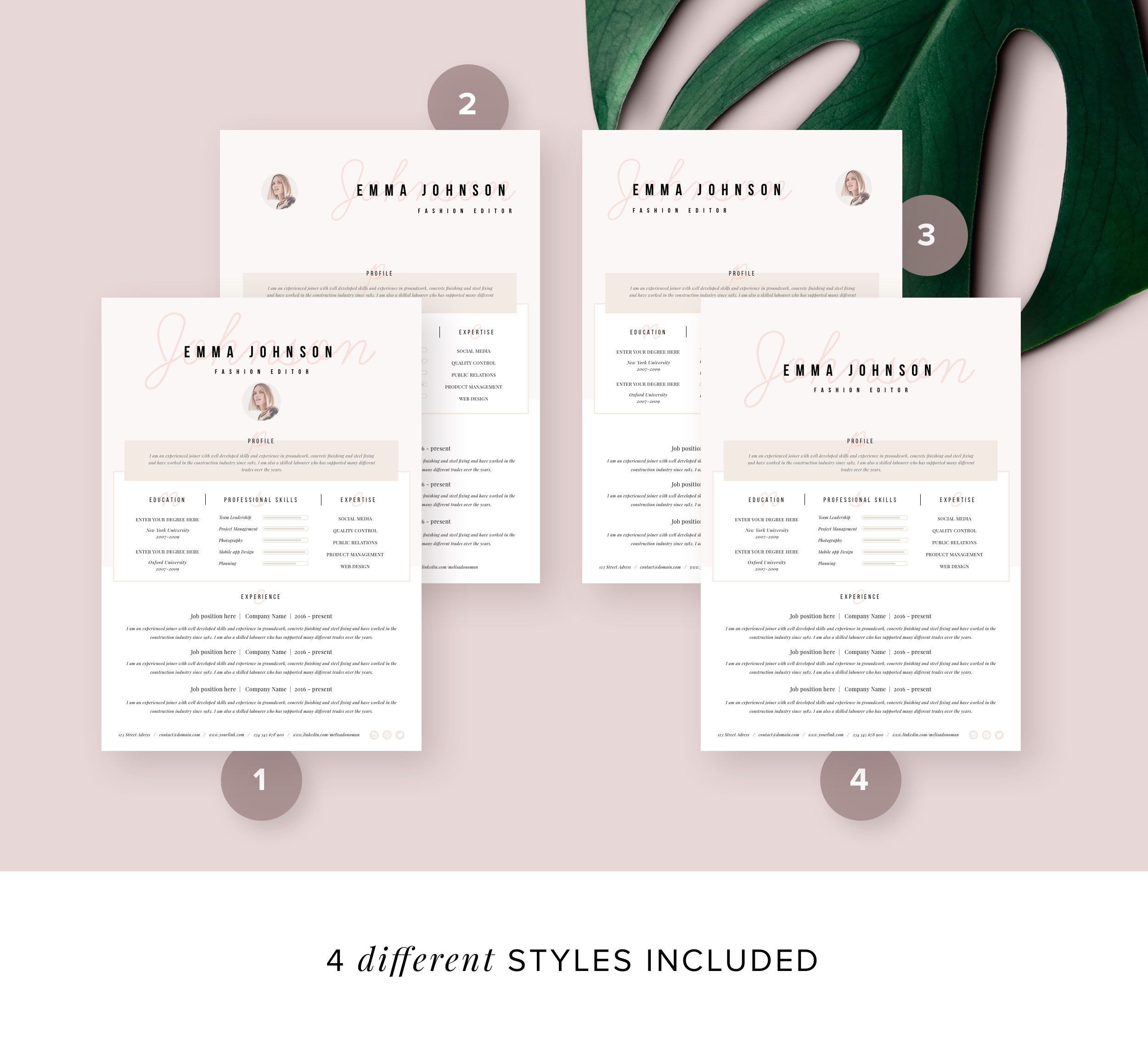 Resume Template with Free Cover Letter and Reference